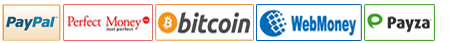 Offshore Hosting accepting PayPal, PerfectMoney, Bitcoin, WebMoney, Payza